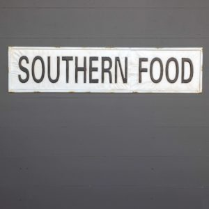 Metal Southern Food Sign