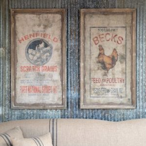 Beck Poultry Seed Henfield Framed Sign 2 Asst