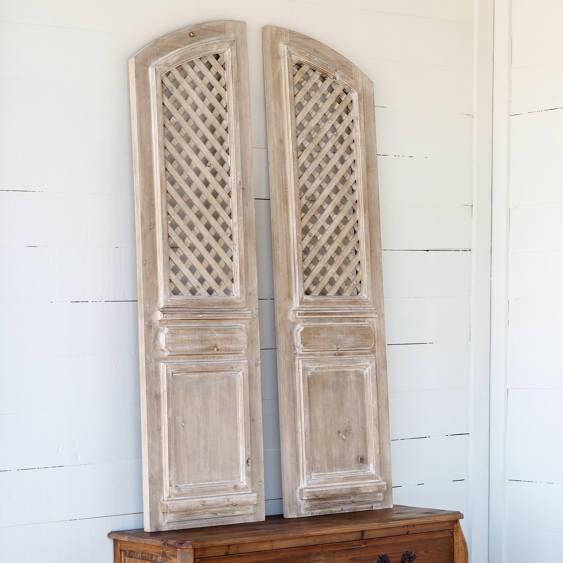 Arched Lattice Work Panels