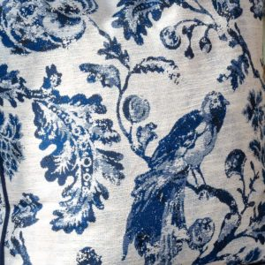 Blue Bird Toile Fabric