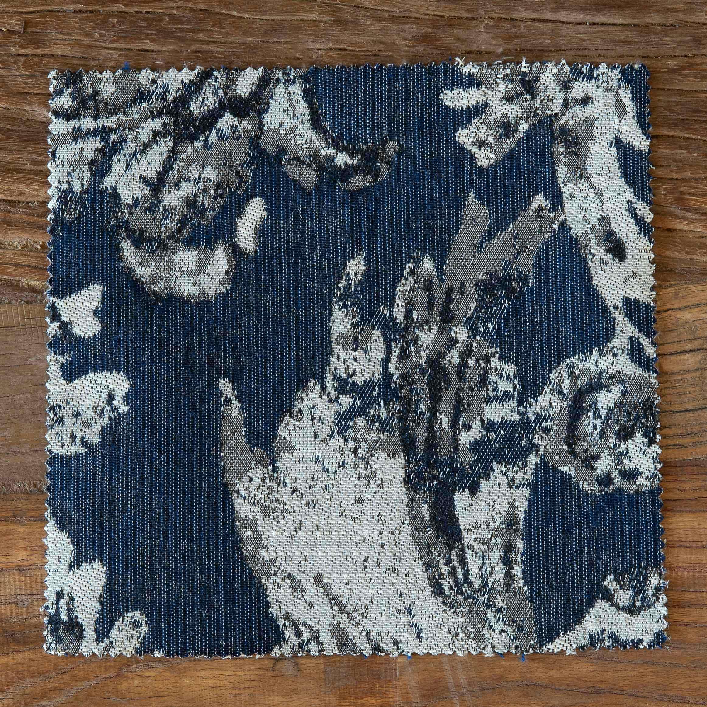Blue Bird Toile Fabric