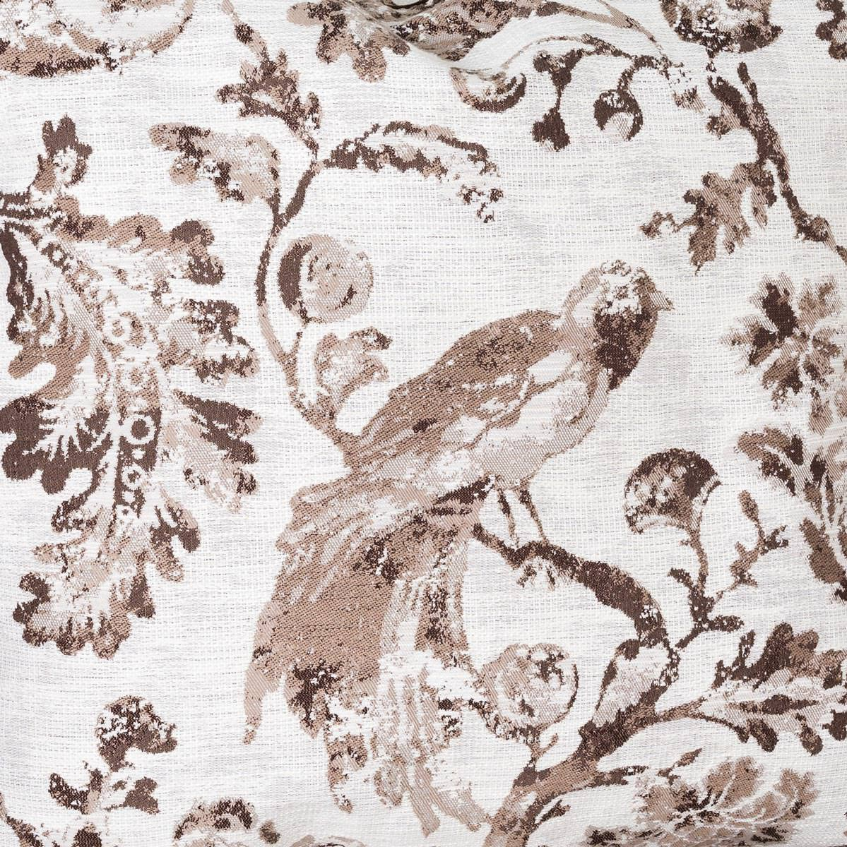 Brown Bird Toile Fabric