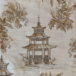 Golden Pagoda Toile Fabric