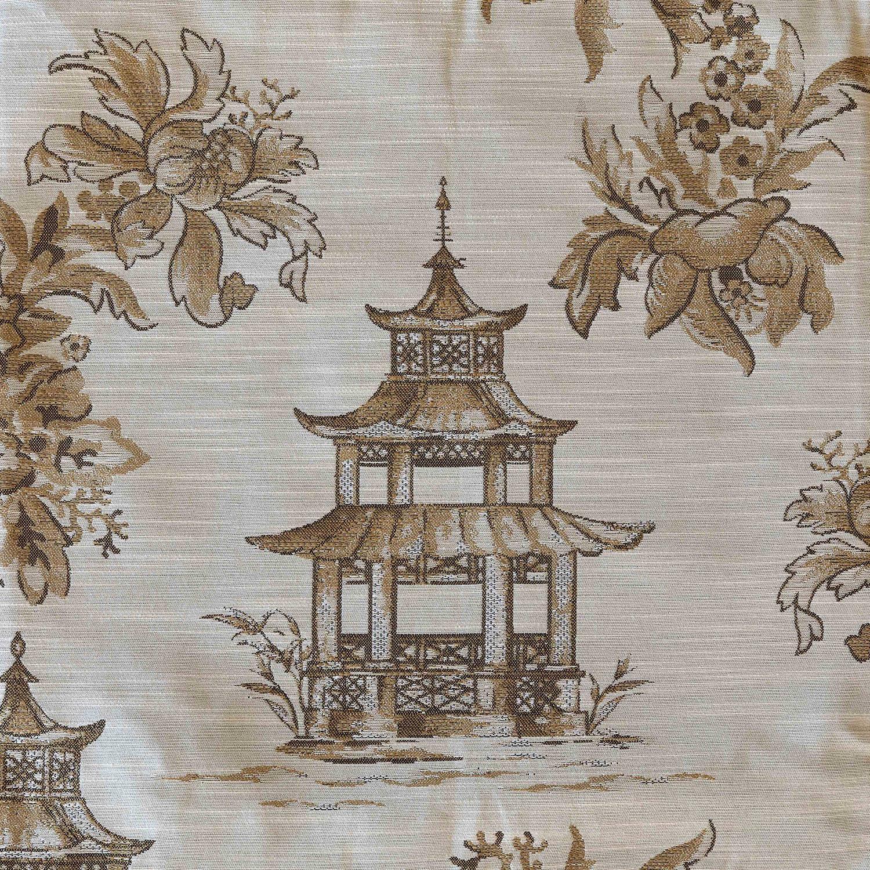 Golden Pagoda Toile Fabric