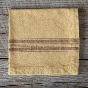 Cloth Napkin, Mustard Yellow Min 6