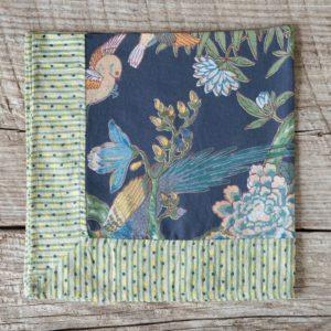 Cotton Voile Napkin, Exotic Bird Print Min 6