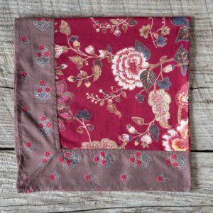 Cotton Voile Napkin, Malamar Red Min 6