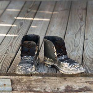 Metal Bread Line Boots
