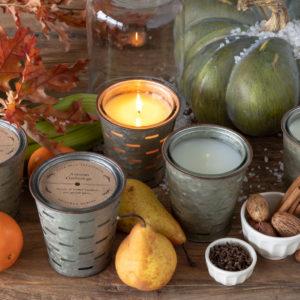Autumn Vineyard, Olive Bucket Candle Min 6