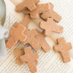Bag Of 12 Clay Crosses - (Includes 4)