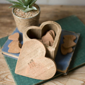 Bag Of 12 Clay Hearts - (Includes 4)