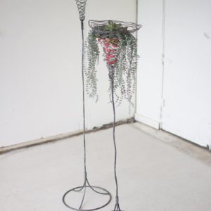 Set Of Two Tall Wild Wire Planters