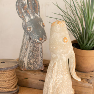 Set Of Two Clay Singing Rabbits