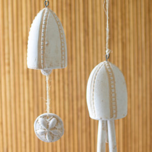 Set Of Two Hanging Clay Sea Bells