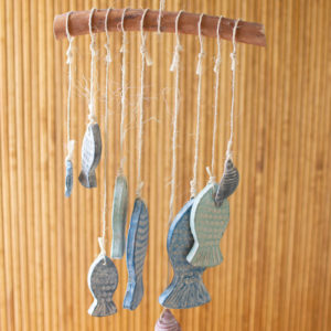 Hanging Clay Fish Chimes
