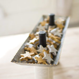 Gold And Silver Clay Stars-Bag Of 75
