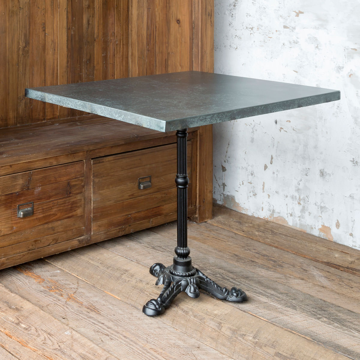 Tin Topped Bistro Table