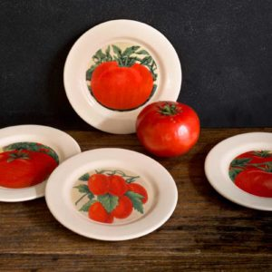 Tomato Appetizer Plate Set of 4