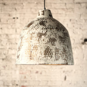 Rustic White Metal Pendant Light