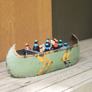 Recycled Metal Canoe Cooler