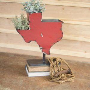 Recycled Iron Texas Planter On An Iron Base