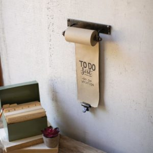 Hanging Note Roll With One Brass Clip - 4In