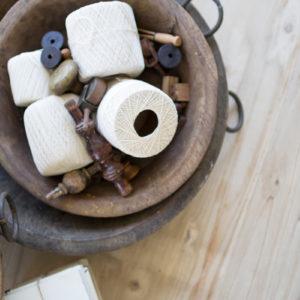 Old Round Wooden Bowls