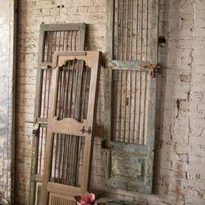 Wood And Iron Door Wall Hanging