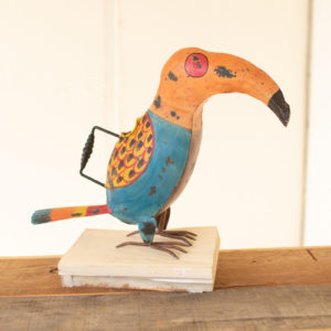 Painted Iron Toucan Watering Can