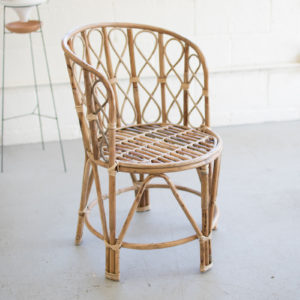 Barrel Shaped Bamboo Chair