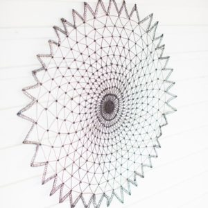 Round Rustic Wire Wall Hanging