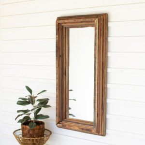 Recycled Wood Rectangle Multi Level Mirror