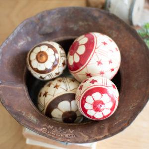 Set Of Four Assorted Ceramic Balls