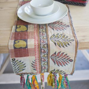 Set Of Four Assorted Kantha Table Runners