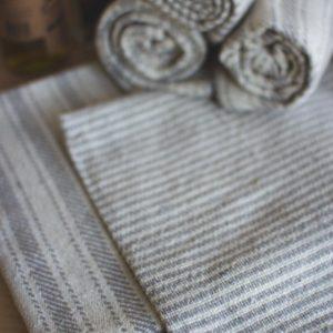 Set Of Six Grey Cotton Napkins - 3 Each Design