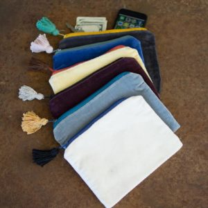 Set Of Six Velvet Pouches