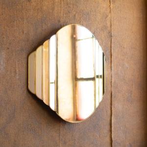 Brass Framed Watch Design Mirror