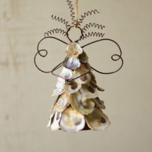 Oyster Shell Angel Ornament - (Includes 6 Boxes with 6 items in each Box)