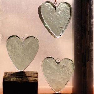 Glass Heart Ornament