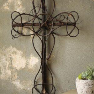Black Vine Decorative Cross - (Includes 4)