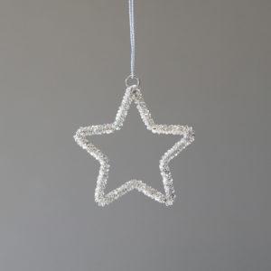 Glass Beaded Star Ornament, Small Min 12