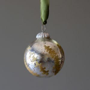 Bronze Relief Pattern Mercury Glass Ball Ornament, Small Min 6