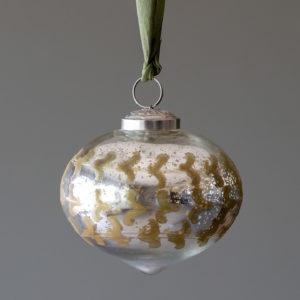 Bronze Relief Pattern Onion Shape Ornament, Medium Min 4
