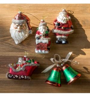 Christmas Ornament Sets.Vintage Christmas Ornament Collection Set Of 6