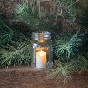 Mason Jar With Flickering Candle Min 12