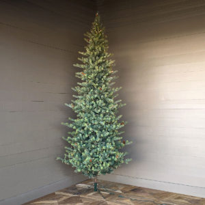 12' Slim Blue Spruce Tree with LED Lights