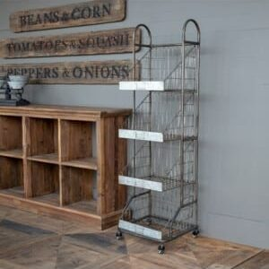 Grocer's Metal Bread Rack