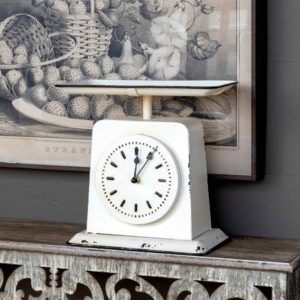 Vintage-Style Painted Homemaker's Scale Clock