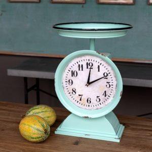 Vintage Enamel Produce Scale Clock