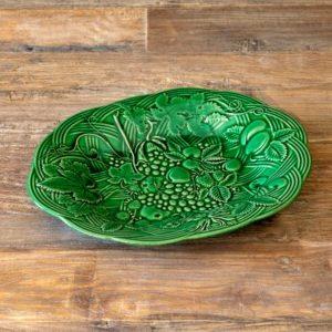 Green Glazed Fruited Platter